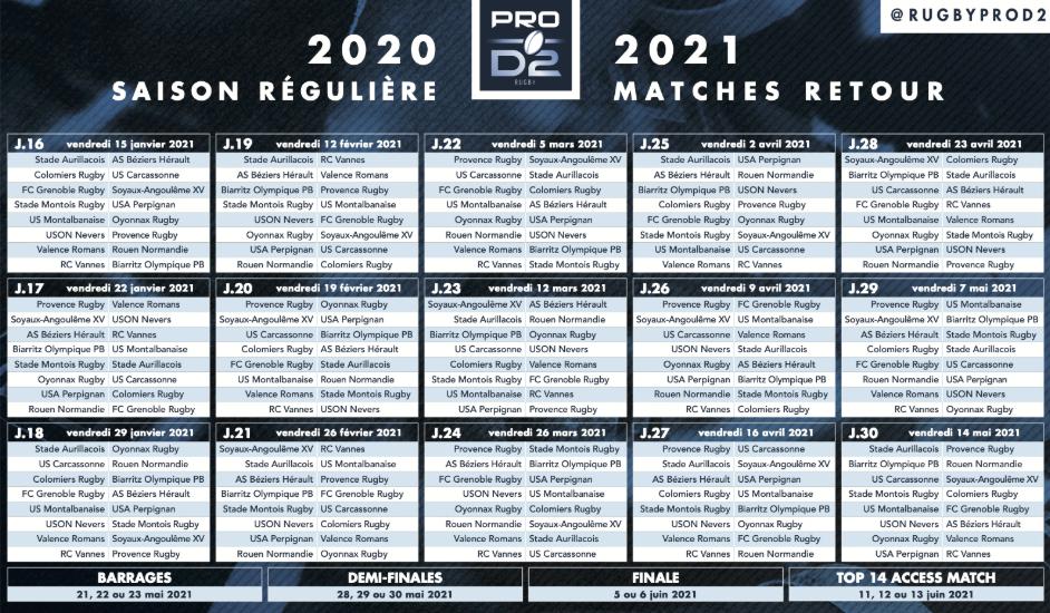 Le calendrier pour la saison prochaine / Forum FCG